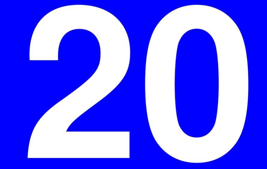 Significado del número 20: Numerología Veinte