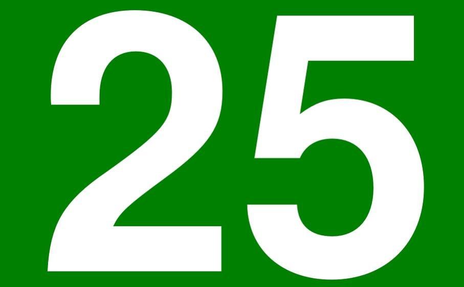 Significado del número 25: Numerología Veinticinco