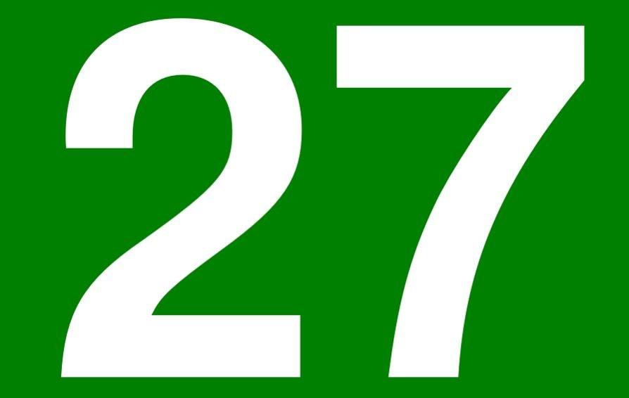 Significado del número 27: Numerología Veintisiete