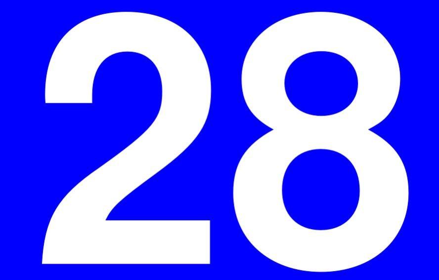 Significado del número 28: Numerología Veintiocho