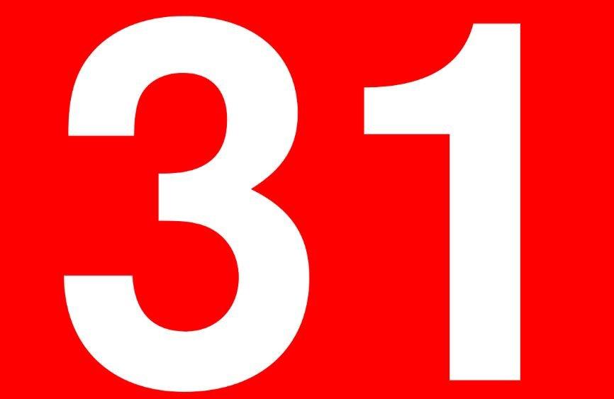 Significado del número 31: Numerología treinta y uno