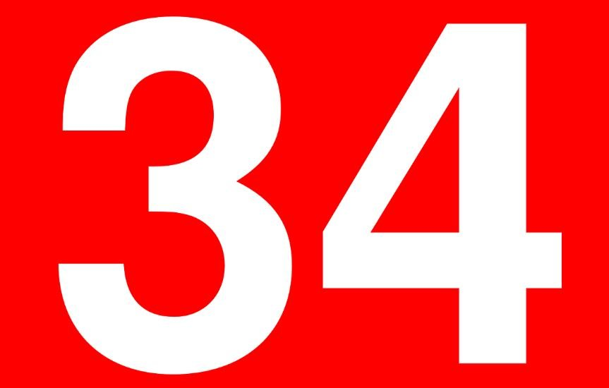Significado del número 34: Numerología Treinta y cuatro
