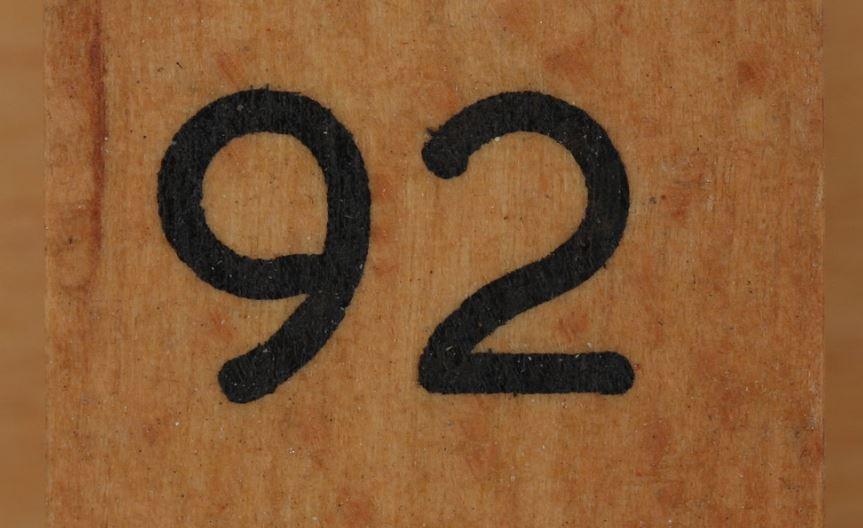 Significado del número 92: Numerología Noventa y dos