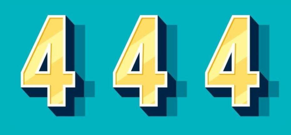 Significado del número 444: Numerología Cuatrocientos cuarenta y cuatro