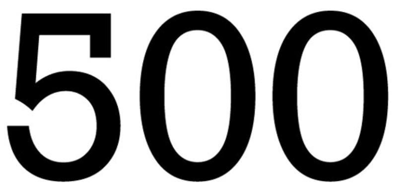 Significado del número 500: Numerología Quinientos