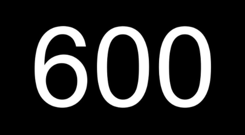 Significado del número 600: Numerología Seiscientos