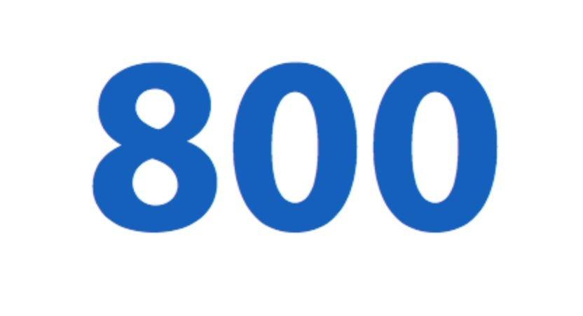 Significado del número 800: Numerología ochocientos