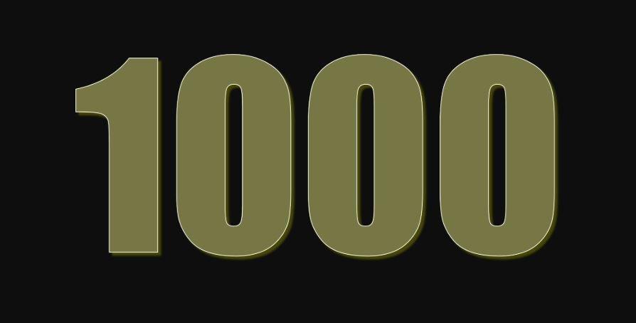 Significado del número 1000: Numerología mil