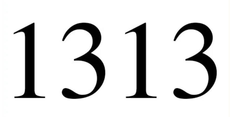 Significado del número 1313: Numerología Mil Trescientos Trece