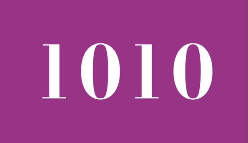 Significado del número 1010: Numerología Mil diez