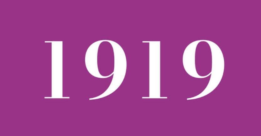 Significado del número 1919: Numerología mil novecientos diecinueve