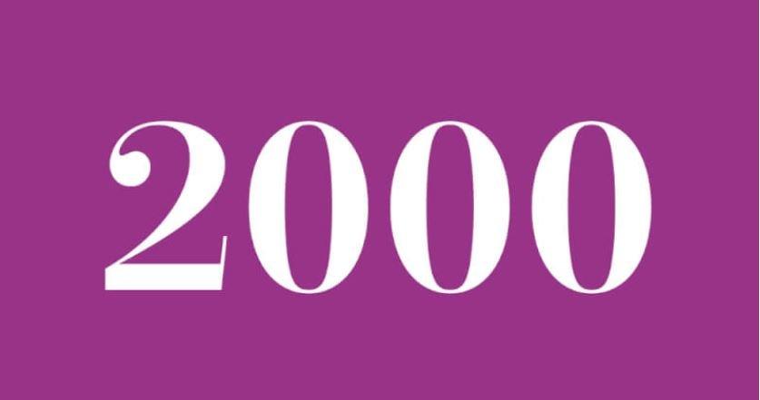 Significado del número 2000: Numerología dos mil