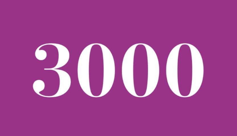 Significado del número 3000: Numerología Tres mil