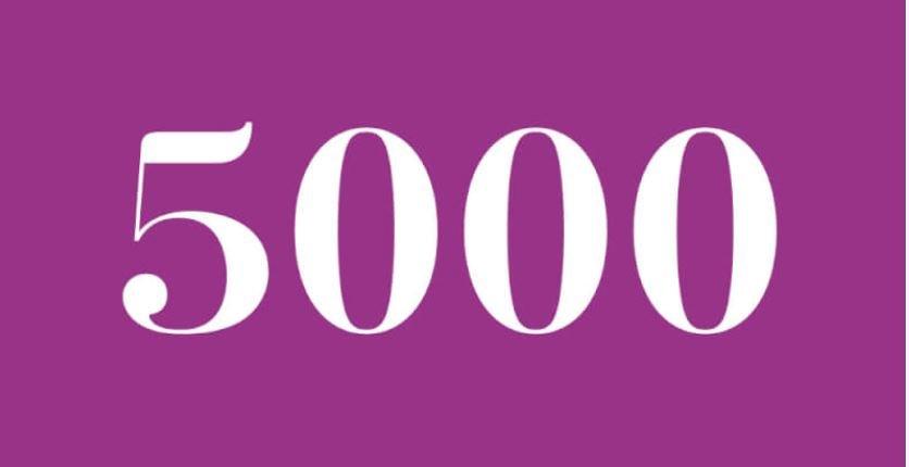 Significado del número 5000: Numerología cinco mil