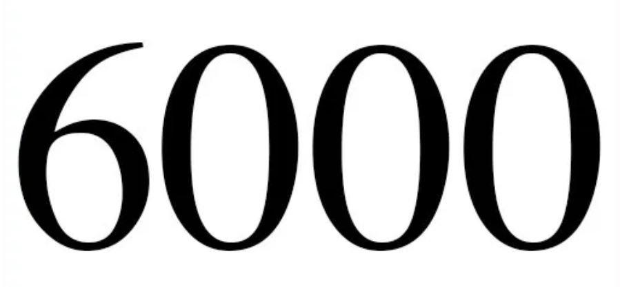 Significado del número 6000: Numerología seis mil