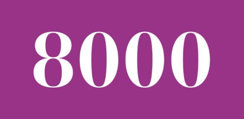 Significado del número 8000: Numerología ocho mil