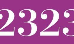 Significado del número 2323: Numerología Dos mil trescientos veintitrés