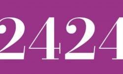 Significado del número 2424: Numerología Dos mil cuatrocientos veinticuatro