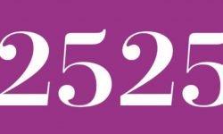 Significado del número 2525: Numerología Dos mil quinientos veinticinco
