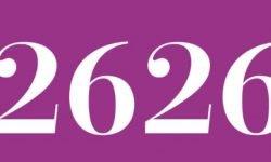 Significado del número 2626: Numerología Dos mil seiscientos veintiséis