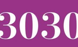 Significado del número 3030: Numerología Tres mil treinta