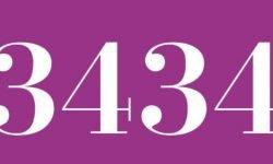 Significado del número 3434: Numerología Tres mil cuatrocientos treinta y cuatro