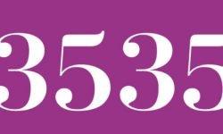 Significado del número 3535: Numerología Tres mil quinientos treinta y cinco