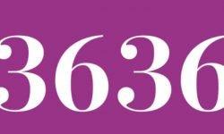Significado del número 3636: Numerología Tres mil seiscientos treinta y seis