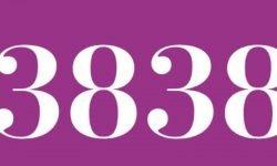 Significado del número 3838: Numerología Tres mil ochocientos treinta y ocho
