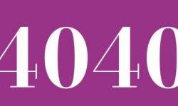 Significado del número 4040: Numerología Cuatro mil cuarenta