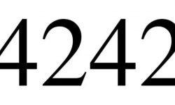 Significado del número 4242: Numerología Cuatro mil doscientos cuarenta y dos