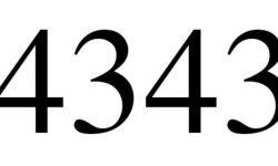 Significado del número 4343: Numerología Cuatro mil trescientos cuarenta y tres