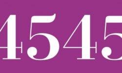 Significado del número 4545: Numerología Cuatro mil quinientos cuarenta y cinco