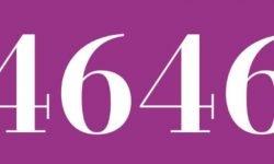 Significado del número 4646: Numerología Cuatro mil seiscientos cuarenta y seis