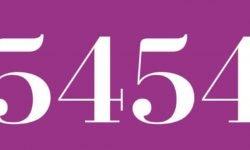 Significado del número 5454: Numerología Cinco mil cuatrocientos cincuenta y cuatro
