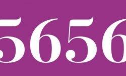 Significado del número 5656: Numerología Cinco mil seiscientos cincuenta y seis