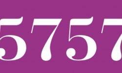 Significado del número 5757: Numerología Cinco mil setecientos cincuenta y siete