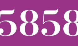 Significado del número 5858: Numerología Cinco mil ochocientos cincuenta y ocho