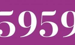 Significado del número 5959: Numerología Cinco mil novecientos cincuenta y nueve