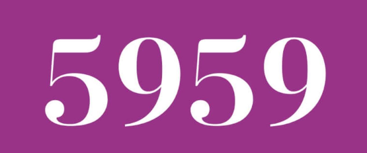 Cinco mil novecientos cincuenta y nueve