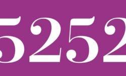 Significado del número 5252: Numerología Cinco mil doscientos cincuenta y dos