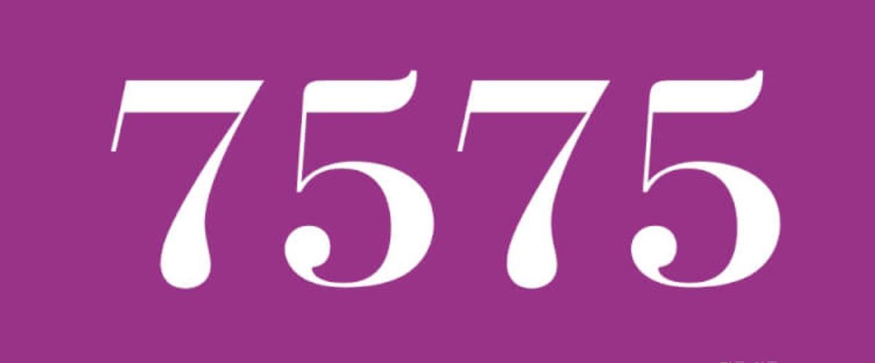 Significado del número 7575