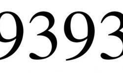 Significado del número 9393: Interpretación de la numerología