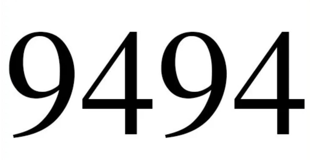 Significado del número 9494