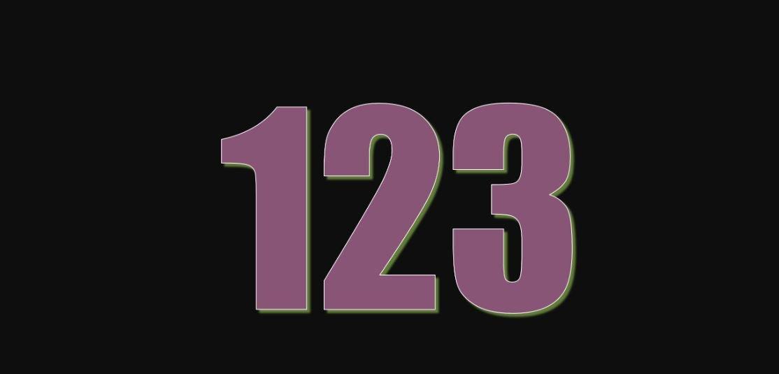 Significado del número 123