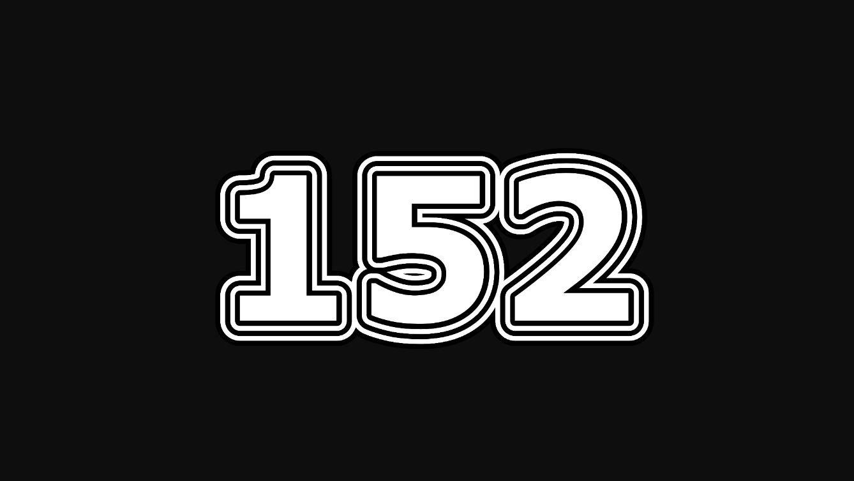 Significado del número 152