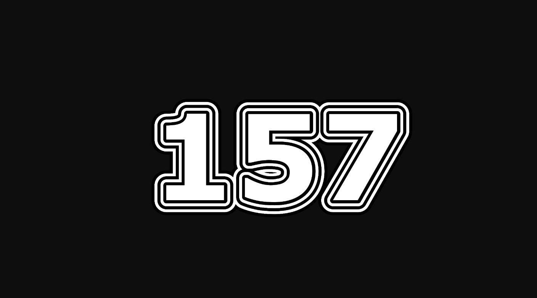 Significado del número 157