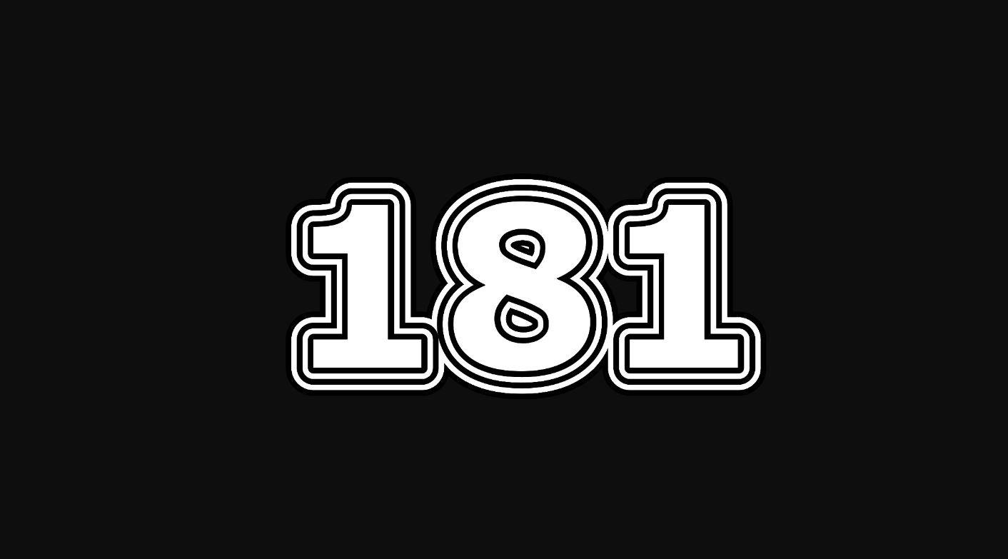 Significado del número 181