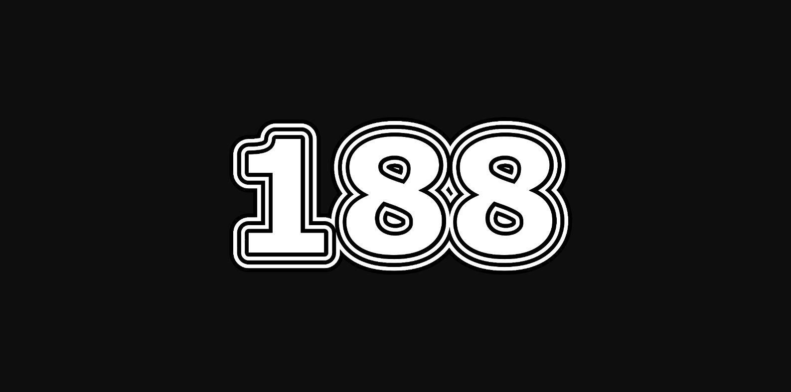 Significado del número 188