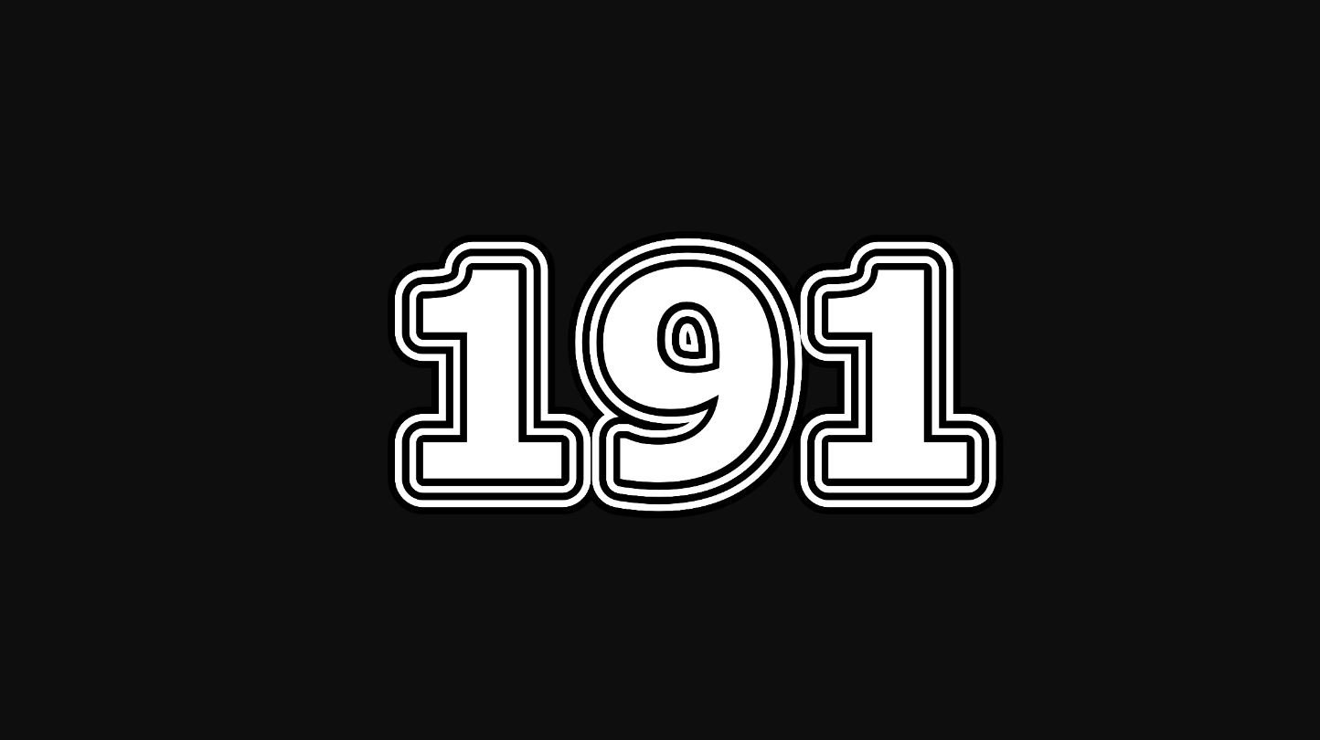 Significado del número 191